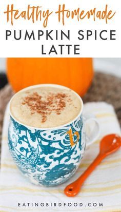 Skip Starbucks and make this healthy homemade pumpkin spice latte made with almond milk at home. It's easy to make, vegan and delicious! Homemade Pumpkin Spice Latte, Pumpkin Spiced Latte Recipe, Pumpkin Spice Syrup, Pumpkin Spice Coffee, Spiced Coffee, Pumpkin Recipes, Fall Recipes, Asian Recipes, Holiday Recipes
