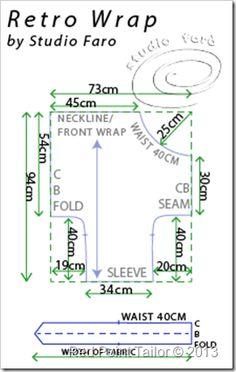 RedPointTailor_diagram1measure1wm vintage pattern Advance 8190 Wrap Pattern, Pattern Cutting, Pattern Making, Sew Pattern, Pants Pattern, Vintage Sewing Patterns, Clothing Patterns, Shirt Patterns, Apron Patterns
