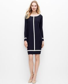 Tipped Sweater Dress  at Ann Taylor.