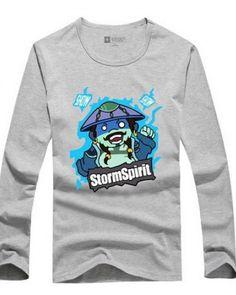 Dota 2 camisa de manga comprida t herói espírito de tempestade para os homens-