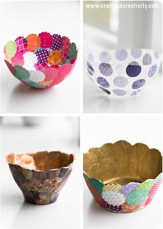 Paper bowls - by Craft & Creativity