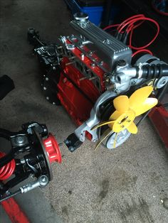 Triumph Spitfire 1500 engine ready to go on chassis