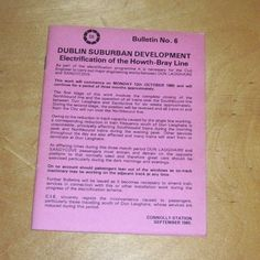 CIE DUBLIN SUBURBAN PASSENGER TIMETABLE DUNDALK WICKLOW HOWARTH BRAY OCT 1980 Dublin