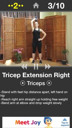 Tricep extension right