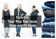 Having trouble finding the perfect plus size jeans? We help you naviagte this process with our Style plus size denim guide! Plus Size Fashion Tips, Fashion 101, Fashion Tips For Women, Curvy Fashion, Fitness Fashion, Plus Size Outfits, Ladies Fashion, Fashion Guide, Plus Size Peplum