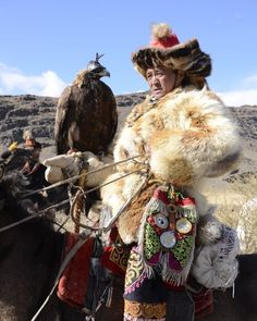 Kazakh hunters use their incredible partnerships with Golden Eagles to catch prey in Western Mongolia. Once a year, some 60 of these unique raptors and their tamers attend the Golden Eagle Festival, founded by Nomadic Expeditions' President and CEO Jalsa Urubshurow. Miriam Dunlap | Nomadic Expeditions | 2012