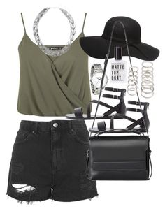 """Outfit with Forever 21 sandals"" by ferned ❤ liked on Polyvore featuring Miss Selfridge, Topshop, Forever 21, Dorothy Perkins, AllSaints, Wallis, women's clothing, women's fashion, women and female"