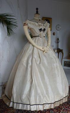 Imposing Civil War Ball Gown, ca. 1865