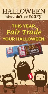 fair trade chocolate minis for Halloween from @Fair Exchange Marketplace
