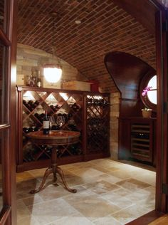 Wine Room, yep this is what we need to do with our basement!
