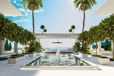 Tropical Home Decor, Tropical Houses, Marbella Villas, Dubai Houses, House Flippers, Mediterranean Style Homes, Luxury Landscaping, Mansions Homes, Dream House Exterior