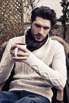 Pull torsade et jean IKKS : vêtements pour homme