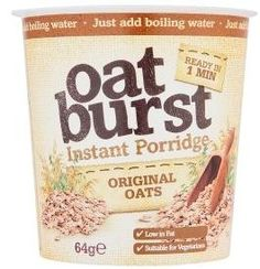 Oatburst Instant Porridge    Original flavour    57g    Simply add boiling water and enjoy straight from the pot.    rrp 99p    Our deal 2 for £1.00    BB to follow   Shop this product here: http://spreesy.com/DiscountFoodsofLincoln/313   Shop all of our products at http://spreesy.com/DiscountFoodsofLincoln      Pinterest selling powered by Spreesy.com