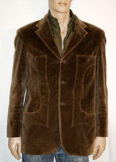Wonderful Casual Corduroy Man Jacket & Vest Size L Branded BLUSTAFF Giacca Casual Uomo Velluto Verde Scuro Coste Sottili Gilet Taglia 50 di BeHappieWorld su Etsy