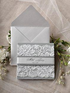Silver and Grey Wedding Invitation