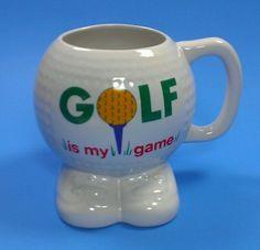 For Your Golf Lover! Golf Is My Game Coffee Mug Cup Tea Ball Tee Feet Papel Round Golfers textured #Golfer #coffeemug