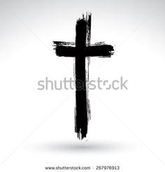 stock-photo-hand-drawn-black-grunge-cross-icon-simple-christian-cross-sign-hand-painted-cross-symbol-created-267976913.jpg (450×470)