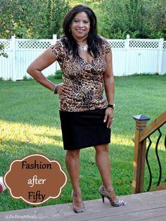 Fashion after Fifty #ootd #dressforless #fashionafter50 #animalprint #pencilskirt #delawareblogger #dedivahdeals