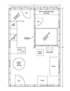 16 39 x 24 39 sample floor plan please note all floor plans for 16x24 cabin floor plans