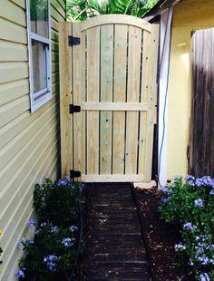 DIY Fence Gate - Tall Wooden Garden Gate