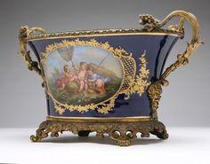 A Paris porcelain gilt bronze-mounted jardiniere, Binet