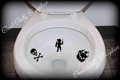 Toilet target decal potty training sticker - SJ needs this!! lol