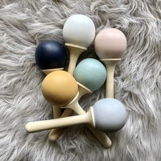 Wood Rattle   Tiger Lily   Online Shop Linden Wood, Newborn Gifts, Chalk Paint, How To Become, Lily, Hand Painted, Colours, Toys, Tableware