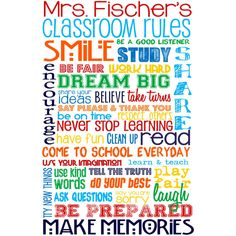 Classroom Rules for High School or Middle School Personalized Sign... (17,785 KRW) ❤ liked on Polyvore featuring home, home decor, wall art, school, personalized wall art, personalized signs and personalized home decor