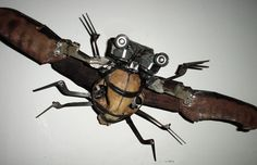 Art Made From Found Objects | found object skullpture