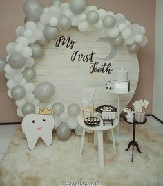 Round Panel – Party Trend - New Deko Sites Party Kulissen, Party Time, Balloon Decorations, Birthday Decorations, 1st Birthday Girls, Birthday Parties, Deco Ballon, Tooth Cake, First Tooth
