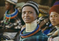 A woman from the Ndebele tribe in South Africa.