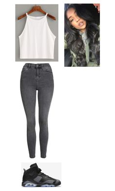"""Outfit for Tuesday"" by mayawhite04 on Polyvore featuring Topshop, NIKE and CAU20"