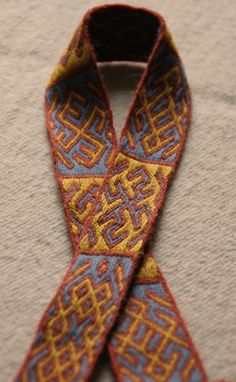 woven ribbon from the grave of St. . Bathild / abbess of the Abbey of Chelles in Bertilla Since it is a grave gift , it is very easy to date the band in this case . Bathild died around 680, Bertill by 704 AD
