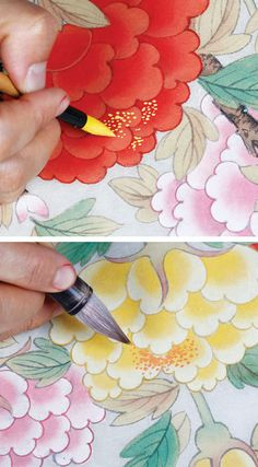 Korean Art, Asian Art, Silk Painting, Painting & Drawing, Diy And Crafts, Arts And Crafts, Korean Painting, Amai, Sketch Inspiration