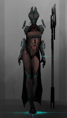 ArtStation - The Witch, Shane Walters. Cyborg robot witch thing quite an interesting design, Character Concept, Character Art, Concept Art, Armor Concept, Science Fiction, Arte Cyberpunk, Graphisches Design, Futuristic Armour, Cyberpunk Character