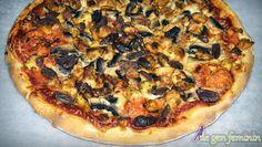 Rețetă de pizza cu pui și ciuperci