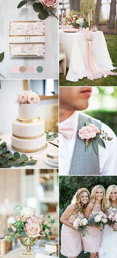 pink,gold sweeet and simple outdoor wedding colors