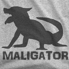 Maligator Unisex T-shirt by ALPHAKNINEAPPAREL on Etsy