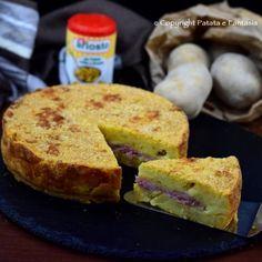 Torta di patate con formaggio e prosciutto cotto  #recipe #tortadipatate #tortadipatatealforno #piattounico #ricettafacile #ricettepercena #ricetteperbambini #ricettaperbambini #tortadipatate #potatopie #saltedpotatopie