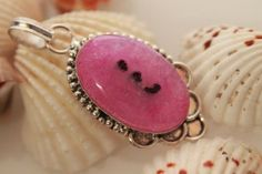 VINTAGE ETHNIC VICTORIAN STYLE PINK JASPER 925 STERLING SILVER NEW PENDANT 828 #925silverpalace #Pendant