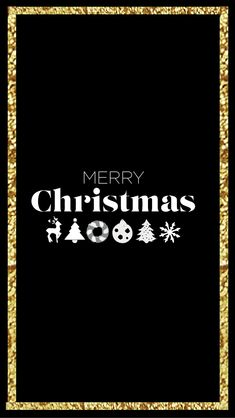 gold and black Free Christmas iPhone Wallpapers