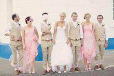 random bridal party photo