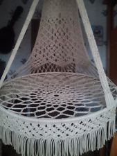 Swing Chair Macrame Special By HangandSwing On Etsy . How To DIY Macrame Hammock Chair Styles Idea. Macrame Hanging Chair, Macrame Chairs, Diy Hanging, Hanging Chairs, Hanging Plants, Swinging Chair, Chair Swing, Crochet Hammock, Hammock Swing