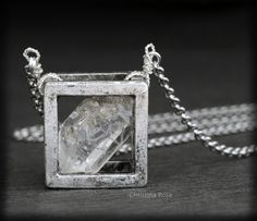 Hey, I found this really awesome Etsy listing at https://www.etsy.com/listing/174682263/raw-diamond-necklace-floating-cube