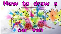 How to draw colored van / watercolor