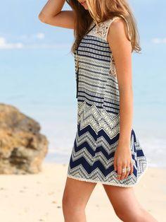 Vestido estampado holgado -multicolor-Spanish SheIn(Sheinside)