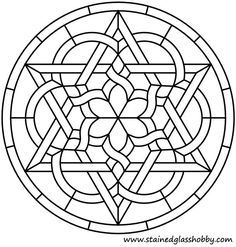 Celtic Knot Round Panel Pattern With Star A More Complex Variation Of The Previous