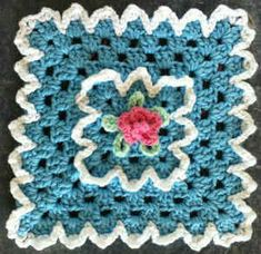 Best Free Crochet » #146 Rose Granny Crochet Dishcloth – Maggie Weldon Maggies Crochet