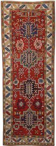 Kazak rug  Caucasus  late 19th century  size approximately 3ft. 5in. x 9ft. 7in.