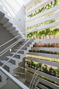 Vo Trong Nghia's 'Stacking Green' House is an Urban Oasis Bookended With Planters Stacking green Vo Trong Nghia Daisuke – Inhabitat - Sustainable Design Innovation, Eco Architecture, Green Building Green Architecture, Sustainable Architecture, Sustainable Design, Landscape Architecture, Architecture Design, Contemporary Architecture, Sustainable Houses, Sustainable Ideas, Installation Architecture